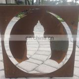 Outdoor Rusty Metal Laser Cut Boxes and Cards for Home Decor