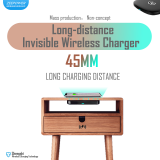 ZeePower 45mm invisible Wireless Charger,Undertable Charger,Long Charging Distance OEM ODM Wholesale