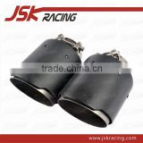 NEW A STYLE ADJUSTABLE CARBON FIBER REAR BUMPER EXHAUST TAIL PIPE END TIPS ( 51-90 MM )(JSK400954)