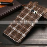 2016 New British Plaid Style Back Cover for Samsung Galaxy S6 Edge Plus, the Soft Cloth for Samsung Galaxy S6 Edge Plus Case