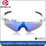 High quality pc frame blue mirror anti scratch men women's outdoor running sports sunglasses