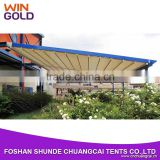Luxury heavy duty 8x6m strong structures motorized roof awnings for roof cover                                                                         Quality Choice