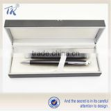 Beautiful Package Black Pen Box high quality Metal Ball Pen Set