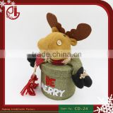 New Christmas Decorations Santa Claus Elk Dolls Paragraph Nuoqi Creative Holiday Gift Storage Candy Box