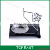 Solder Soldering Iron Metallic Metal Stand Holder & Heavy Duty Black Base (Silver color Holder)