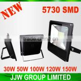 Professional led flood light 20w flood light 5730 aluminium 50W 100W 120W 150W AC85-265V pure white with great price