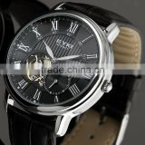 Black Men Fashion Dress Watch Mechanical Automatic Movement WM350