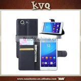 Wallet Leather Phone Flip Case Cover For Sony Xperia Z4V , for sony Z4 Compact leather case