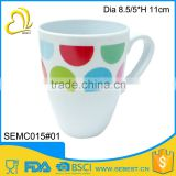 Top selling custom melamine handle plastic mug