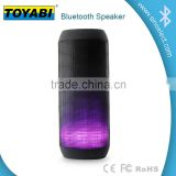 Stereo wireless Bluetooth Speaker with Microphone wireless speaker with LED light FM radio BT speaker