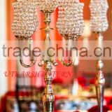 Wedding crystal candelabra/Wedding crystal ball candelabra/Wedding centrepiece/Wedding crystal hurricane candelabra