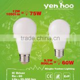 Hot patented design!!!!!! LED Bulb A60 E27 Aluminum +Plastic body 806lm 10W LED Bulb in amazing price