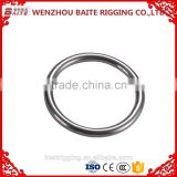 2016 new fashion O ring hook 2016 hot sale /key chains Stainless Steel Aisi 316 304 Welded Round Ring Nose Ring