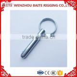 Cable tie China Manufacturer M8 Zinc plated Locking pin, hitch pin ,roldign-up pin ,clip single winded