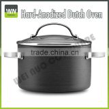Hard Anodized Dutch Oven w/ Glass lid & Stainless Steel handle