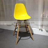 Wholesale Economical High Back Vintage Plastic Wooden Stool/ Bar Stools/bar Chair HYX-505