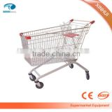 2016 Top Selling 60-240L Asian and Europe style supermarket metal shopping trolley