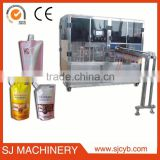 pouch filling machine drink water,soft drink,oil detergent cosmetic spout pouch filling machine