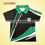 100%polyester dye sublimation men's bowling polo shirts