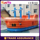 hot sale factory supply pirate ship type inflatable fun city for kids,inflatable amusement park for sale