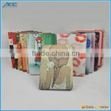 2014 Hot selling,alibaba wholesale customized PU flip tablet case with printing color for iPad 6