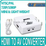 Mini 720p 1080p HD HDMI to RCA Composite Audio AV CVBS Adapter NTSC Video Converter