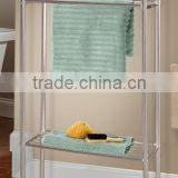 Durable steel tube frame 2-layers towel rack steel shelves wire shelves for towels large and small