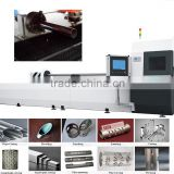 500~2000W metal pipe fiber laser cutting machine for tubes, rectangular and other profile
