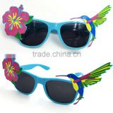 Plastic Latest flower birds pattern Wholesale Custom Logo Party Sunglasses