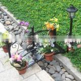 SOLAR-LIGHTED BRIDGE PLANTERS - SD04842C