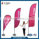 Advertising Single Side Printing Polyester Feather Flag Giant Free Standing 4m Telescopic Flag Pole
