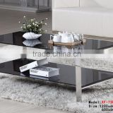 Modern Coffee Table and End Table/ Black Coffee Table with Metal Legs