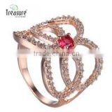 Fashion Unique Jewelry Zircon Gold Wedding Ring BR01560