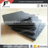 [factory direct] hot sale small size round shaped black slate coaster for bars round slate coaster