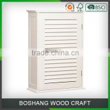 White Wall Hanging Bathroom Vanity Cabinet Shutter Door Bathroom Design                                                                                                         Supplier's Choice