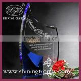 noble custom crystal trophy for collection/souvenir/gifts with sandblast/laser engraved logo