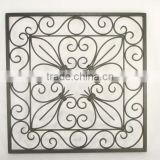 decorative wrought iron square wall sculptures ,wrought iron square wall hanging art