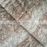 PV plush fake fur fabric 100% polyester