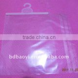 high quality plastic packaging bag with hook and adhesive tape for underwear alibaba China