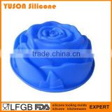 Wholesale Giant Single Rose Flower Silicon Bakeware Cake Mould