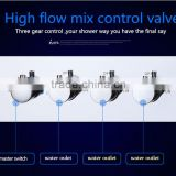 Contemporary High Pressure 4 Handle 3 Way In Wall Bath Shower Faucet Hot Cold Mixing Water Control Valve