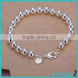 top quality popular american jewelry solid 925 sterling silver bead bracelet