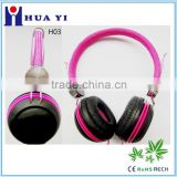 deep bass high quality colorful classical style headphone headband over head heaset fashion for younger