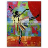 High quality Abstract Modern ballet dancer girl oil painting wall art home decoration