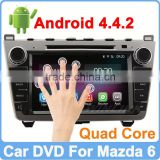 Ownice New Quad Core Android 4.4.2 2 din car dvd for mazda 6 Cortex A9 1.6GHz HD 1024*600