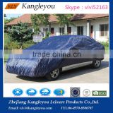 170T polyester fabric coated PU blue dustproof cover Uv protection outdoor car cover