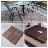 newteck Garden Swimming pool decoration DIY decking 310*310mm / WPC interlocking decking tiles