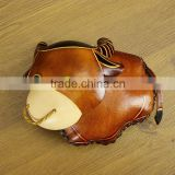 2015 New style leather coin purse Hot sale lady purse Factory supplier of ladies leather animal shaped coin purse