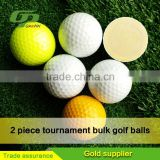 Factory Custom 2 piece white golf ball and tee for promotion