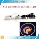 New 6th Car Emblem LED LOGO Welcome Door Light Ground Projecting Lamp for all auto light car